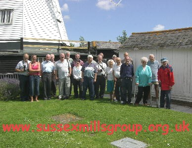 Sussex Mills Group Members at White Mill, Sandwich in Kent during the out-of-county Mills Tour