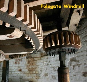 Part of the restoration work in the Mill has been the replacement of teeth in the gear wheels
