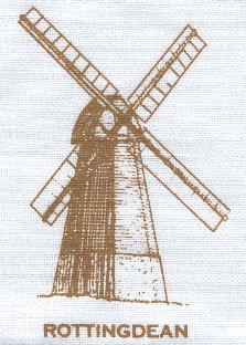 Detail from Sussex Mills tea towel